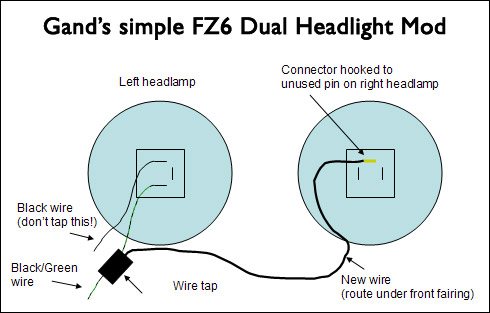 headlight gand's simple fz6 dual headlight mod 2006 yamaha fz6 wiring diagram at eliteediting.co